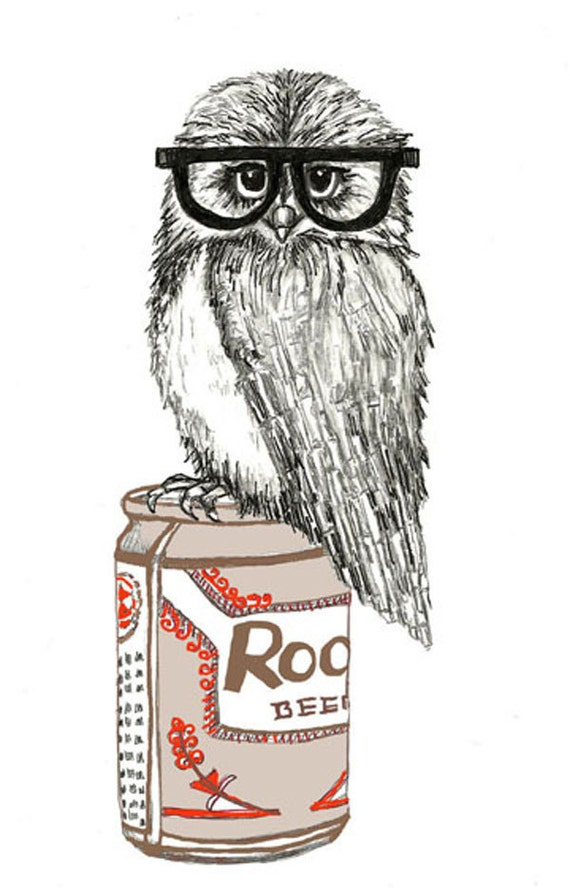 Party Owl Illustration