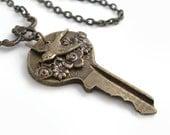 Key Pendant The Garden Gate - Necklace Handmade Jewelry