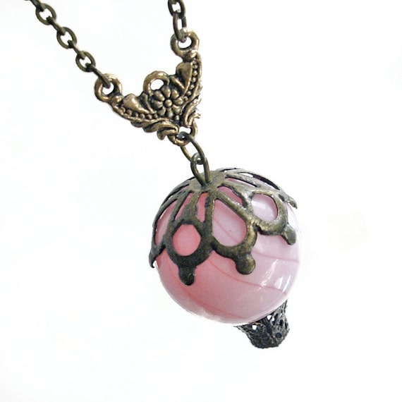 Pink Balloon - Hot Air Balloon Pendant Necklace Jewelry Jewellery