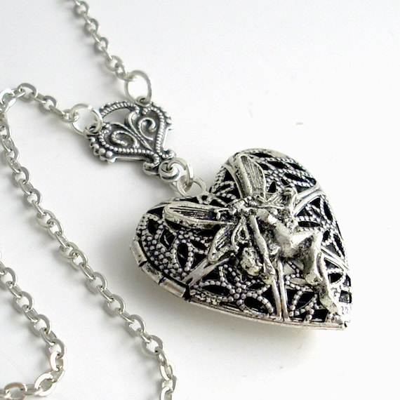Silver Scent Locket - Heart of the Fairies
