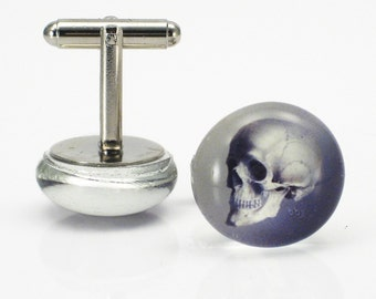 Cranium skull cufflinks