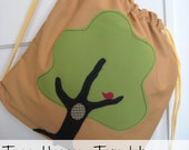 Tree Hugger Fabric Applique Template -PDF File Downloads INSTANTLY