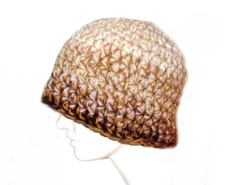 Earth Brown Ombre Beanie Hat