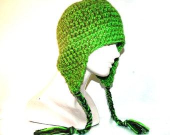 Lime Green EarFlap Hat
