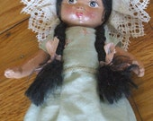 SALE - Vintage Composition Mexican Girl Doll in Ethnic Costume - TEHUANA