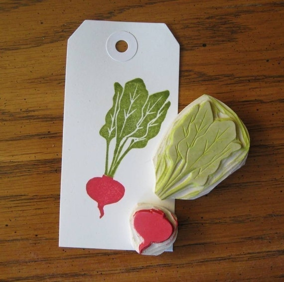 Hand Carved Little Beet stamp