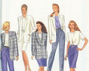 UNCUT Simplicity PLUS SIZES Pattern 8708 - Misses Pants, Skirt, Blouse & Lined Jacket - 18-22