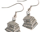 Book Charm Earrings Great Teacher Gift silver pewter charms lead-free made in USA