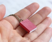 Mini Red Book Quirky Geek Necklace - 'Bibliophile'