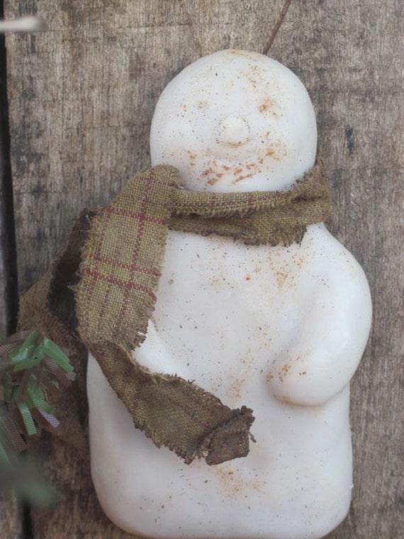 Primitive Snowman Soy-Beeswax Melt