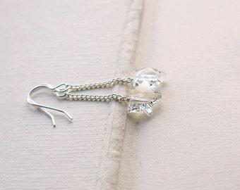Earrings, Swarovski Star. Silver. Little Star