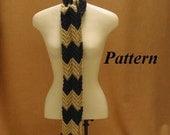 Easy Crochet Scarf Pattern Zig Zag Motif pdf ok to sell