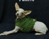 Dog Sweater Knit Pattern, pdf, OK to sell, chunky cardigan