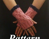 Fingerless Glove Pattern Cable Knit Diamond Detail pdf, ok to sell