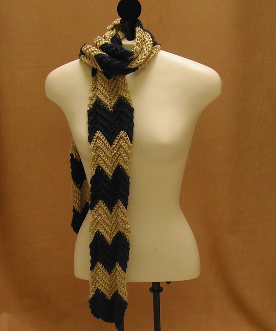 Crochet Zig Zag Scarf : Items similar to Crochet Chevron Scarf Zig Zag Long Skinny on Etsy