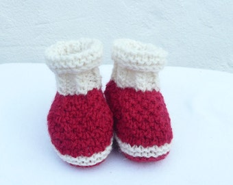 Knitting PATTERN BABY Booties INSTANT Download - Winter Wonderland Baby Boots