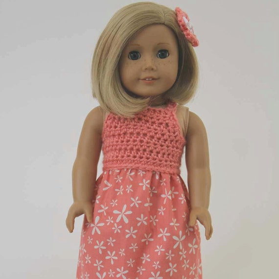 Crochet Hair On Dolls : ... Fun Crochet Doll Dress, Hair Clip Pattern - PDF - Fits 18-inch dolls