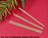 Copper Ring Stock Sampler for making your own Ring Bands