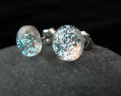 Fused Glass Earring Posts - Silver Frost Posts