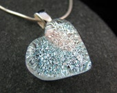 Fused Glass Necklace - Diamond Heart Necklace - Made to Order