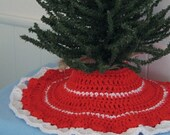 Tabletop Tree Skirt -- Crochet Pattern -- Instant Digital Download