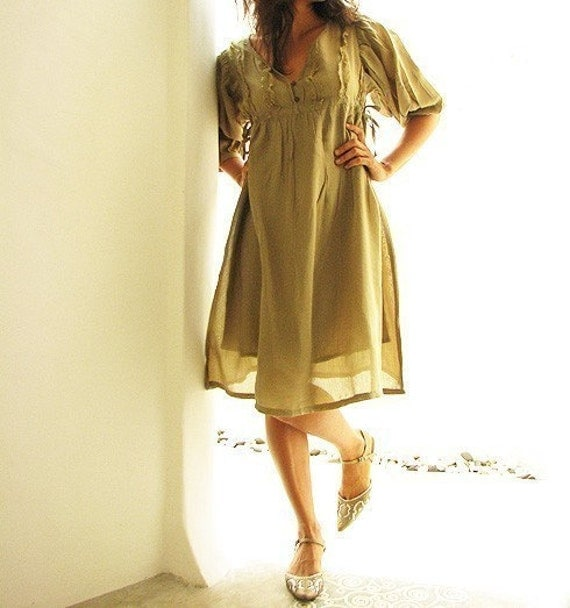 30 USD SALE Mix silk lined dress, Knee length dress (384) in 5 sizes