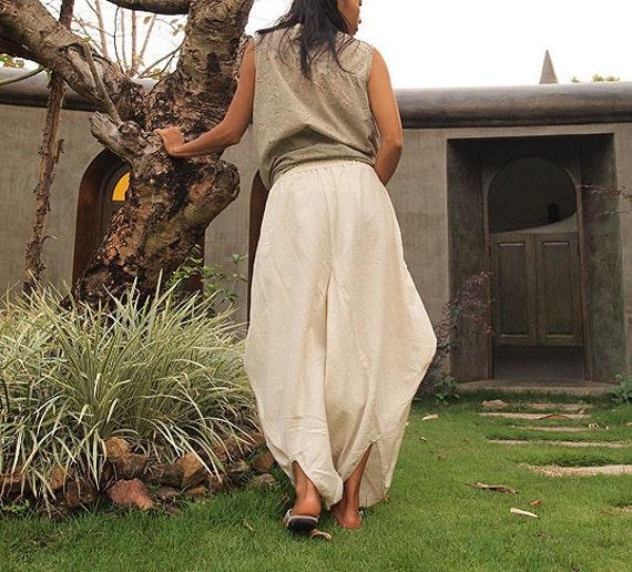 Origami long lounge pants ...Natural 100% Cotton  (M,L,XL) 1170