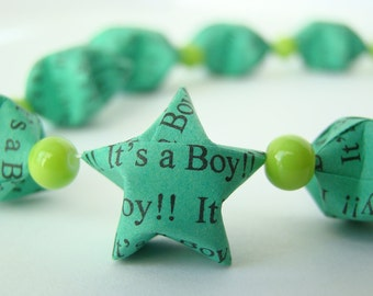"Baby Shower Garland - ""It's a Boy"" Lucky Stars"