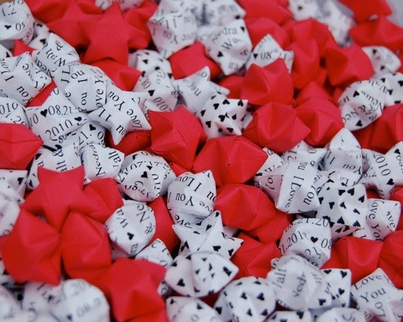 200 Origami Lucky Stars - Customized Wedding Decoration / Favors / Confetti