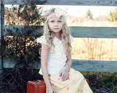 Lemon Cream Girls BOHO Tiered Maxi Skirt Available in sizes 18m through 8