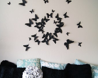 60 3D Butterfly Wall Art Circle Burst