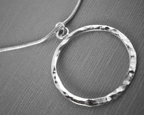 Sterling silver, solid,Circle of life pendant handmade by Norita Designs