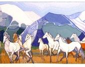 WILD HORSES (giclée print)