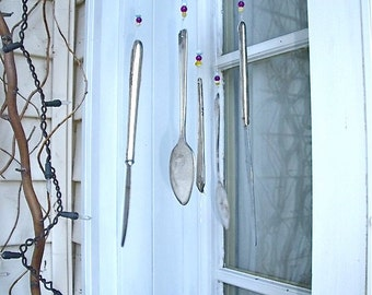 WINDCHIME REcYcLed siLverWaRe and 1 cup meaSuRinG CuP pLus gLass BeaDs