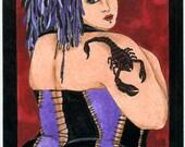 Sonia Fat girl Tattoo (5x7 or 8x10 print)