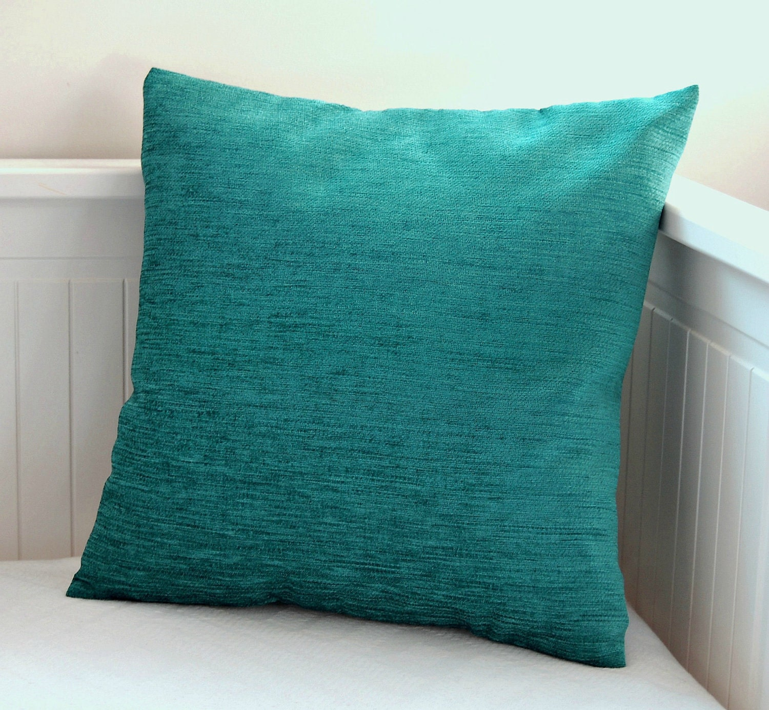 Blue Teal Cushion Cover Accent Pillow Cover 16 By Littlejoobieboo