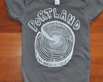 Portland Stumptown - Baby Onesie (Size 12 to 18 Months) American Apparel