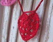 Crochet Heart Garland - Pink and Red - Crochet Valentines Day - Valentines Day Banner - Heart Bunting - Heart Banner Valentines Day Decor