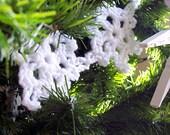 Crochet Snowflake Garland - Christmas Tree Garland - Mantel Garland - Crochet Snowflakes - Christmas Tree Decor - Mantel Decor