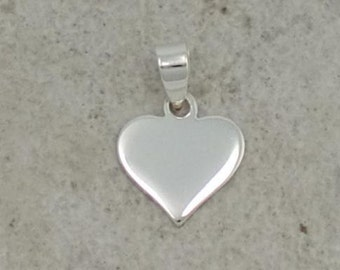 Sterling Silver Heart Charm -- Complimentary Ribbon or Cord