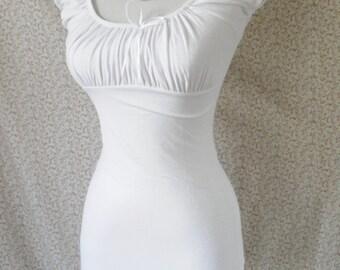 White peasant blouse -plus sizes