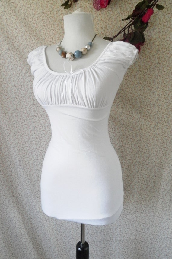 White peasant blouse -size s/m and m/l