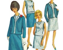 1960s  Simplicity 6891 Misses Jacket Blouse and Skirt Pattern Womens Vintage Sewing Pattern  Size 16 Bust 36