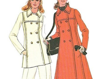 McCalls 3753 1970s Misses Pants and Double Breasted Coat or Jacket Pattern Womens Vintage Sewing Pattern Size 18 Bust 40 OR 14 Bust 36 UNCUT