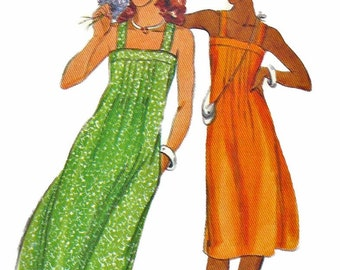 Butterick 5355 1970s Misses Tucked Sundress Pattern Shoulder Straps  Womens Vintage Sewing Pattern Size 12 Bust 34 UNCUT