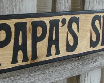 Papa's Shop sign