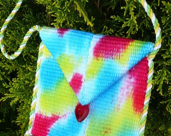Handwoven wristlet purse - Love Child