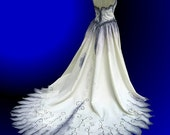 Custom Gothic Wedding Gown Hand Painted