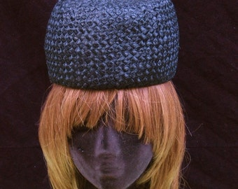 60's Straw Beehive Hat Mad Men Sale 50% off