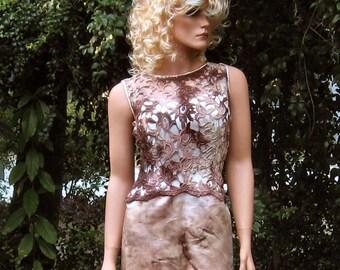 Steampunk Sepia Satin Gown SALE